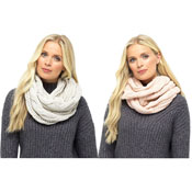 Ladies Soft Chunky Cable Snood Scarf
