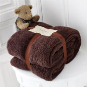 Luxurious Super Soft Teddy Throw Chocolate