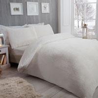 Cosy & Soft Waffle Fleece Duvet Set Winter White