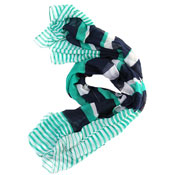 Ladies Fearne Multi Stripe Summer Shawl Scarf