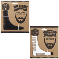 3 In 1 Beard Shaper Comb With Brush