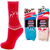 Hot Toes Thermal Fashion Reindeer Socks