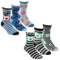 Boys 3 Pack Bamboo Trainer Socks Football