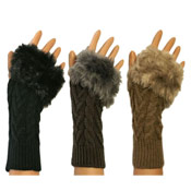 Ladies Kit Mit Faux Fur Trim Gloves