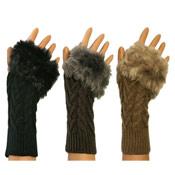Ladies Kit Mit Faux Fur Trim Gloves