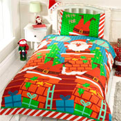 Childrens Christmas Bedding - Santas Chimney
