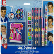 One Direction 12 Piece Stationery Set