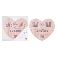 Save The Date Wooden Magnets 8 Pack