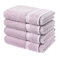 Luxury Cotton Bath Sheet Mauve