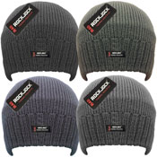 Mens Thermal Lined Beanie Hats