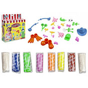 Coloured Modelling Dough and Accessories Assorted