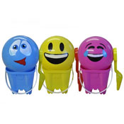 Bright Colour Plastic Beach Bucket Set