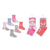 Baby Girls Novelty Animal Socks Assorted