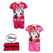 Girls Minnie Mouse Shortie Pyjamas Set
