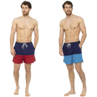 Mens Colour Block Swim Shorts