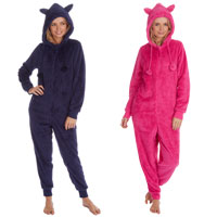 Ladies Snuggle Fleece Onesie