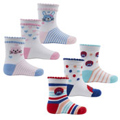 Cotton Rich Children Socks Cats & Ladybirds