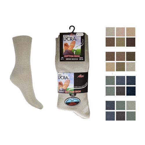 Mens Lycra Socks 6 Pack Aler