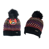 Ladies Heat Machine Pom Pom Hat Multi Colours