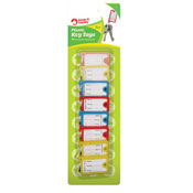 Plastic Key Tags 8 Pack