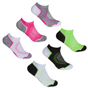 Ladies Sport Trainer Liners Socks Circle Cushion Heal
