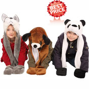 Childrens Animal Hat with Tail and Pockets