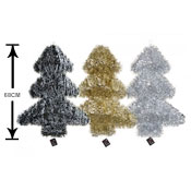 68CM Jumbo Shiny Foil Tinsel Covered Christmas Tree
