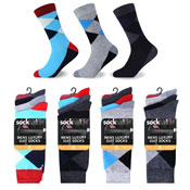 Socksation Mens Luxury Suit Socks Broad Argyle