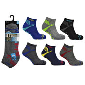 Mens ProHike Cushioned Sole Trainer Socks Bottom Stripes