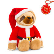 18cm Sloth With Santa Outfit