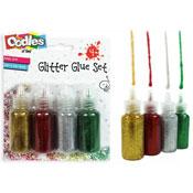 4 Rainbow Glitter Glue
