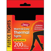 Silky 200 Denier Thermal Fleece Tights Black
