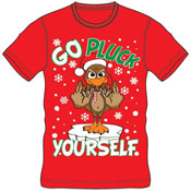 Christmas T-Shirt Red Go Pluck Yourself