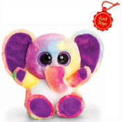 Animotsu Rainbow Elephant Cuddly Soft Toy