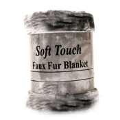 Mink Faux Fur Throw Silver