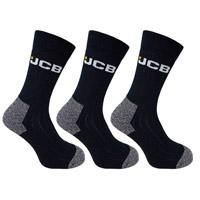 JCB 3 Pack Mens Black Work Sock
