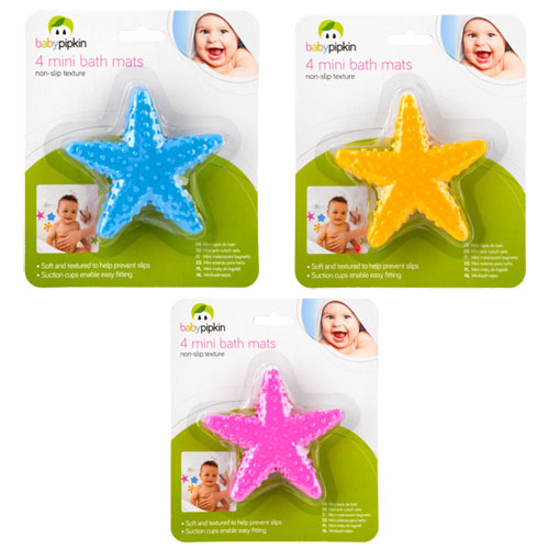 4 Mini Bath Mats - Starfish