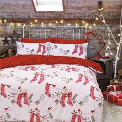 Christmas Stockings Red Duvet Set