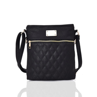Maggie Quilted Cross Body Bag Black