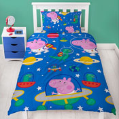Official George Pig Planet Reversible Duvet Set