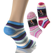Light Stripe Trainer Socks