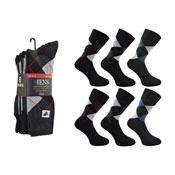 Mens Argyle Socks 6 Pair Pack