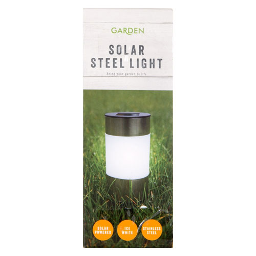 Solar Steel Light