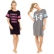 Ladies Slogan Nightdress List/Score