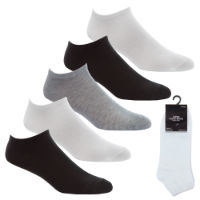 Ladies 5 Pack Trainer Socks Assorted