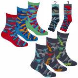 Boys 3 Pack Design Dino - Camo Socks