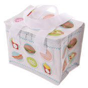 Woven Lunch Box/Cool Bag Fast Food Print