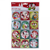 Christmas Disney Design 3D Gift Tags