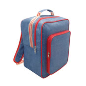 Insulated Cooler Bag Backpack XL Denim Stripe