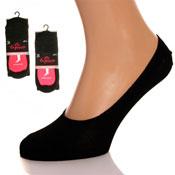 Exquisite Invisible Socks Black
